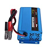 XYR Automatic Battery Charger Maintainer 24V 5Amp Car Battery Charger Maintainer with Alligator Clips for Scooter Wheelchair Motorcycle eBike Lawn Mower Electric Tools Emergency Light UK Plug
