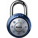 Master Lock 1561DAST Combination Dial Padlock with Aluminum Cover, 1-7/8-Inch Wide Body, 9/32-Inch Diameter Shackle, Color May Vary
