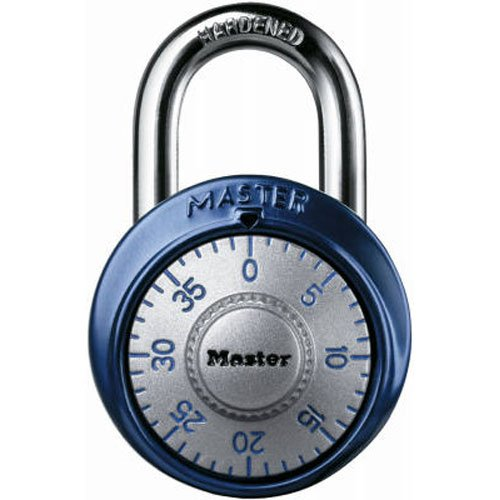Master Lock 1561DAST Combination Dial Padlock with Aluminum Cover, 1-7/8-Inch Wide Body, 9/32-Inch Diameter Shackle, Color May Vary (Lock 7 Master)
