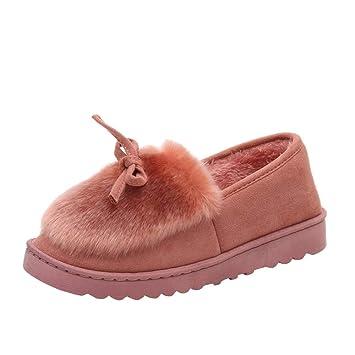 c0b4d7414b87eb Yazidan Mode Frau Bogen Niedrig Schnitt Schuhe Eben Unterseite Unterhose  Plus Samt Schnee Stiefel Damen Warm