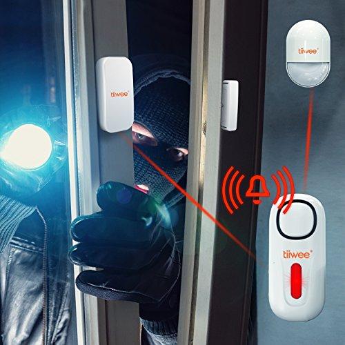tiiwee Sensor de Ventana y Puerta TWWS01 para el Sistema de Alarma de Casa - Sistema de Alarmas Inalámbrico Anti-Robo - Seguridad en el Hogar