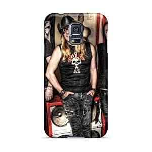 Marycase88 Samsung Galaxy S5 Shock Absorbent Hard Phone Case Allow Personal Design Lifelike Battlelore Band Pattern [ddo13259jESF]