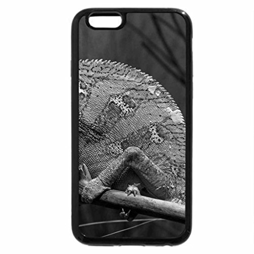 iPhone 6S Plus Case, iPhone 6 Plus Case (Black & White) - Green Chameleon