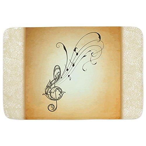 Bathmat Large Musician Treble Clef Music Notes