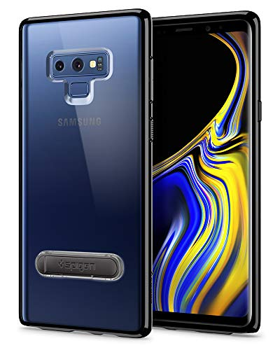 Spigen Ultra Hybrid S Galaxy Note 9 Case with Air Cushion Technology and Magnetic Metal Kickstand for Galaxy Note 9 (2018) - Midnight (Black Kickstand Case)