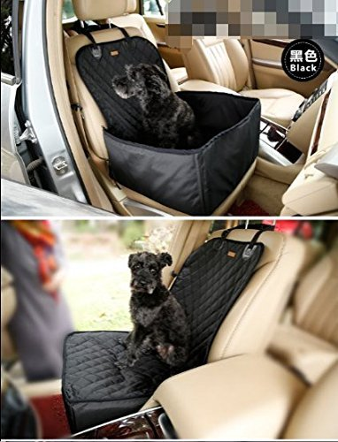YK Waterproof Pet Booster Seat Pet Front Seat Cover Dog Car Seat Covers Pet Hammock Dog Car Seat Protector Mat Dog Seat Covers for Cars,SUV (Black)