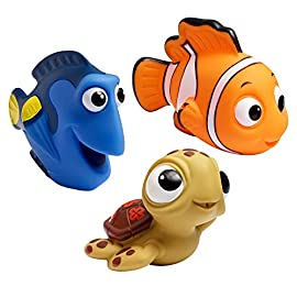 The First Years Disney Bath Squirt Toys 7 COLORFUL BATH TOYS FOR TODDLERS: These interactive toys visually engage toddlers SQUIRT TOYS: Squirting action for baby bathtime fun COMPACT SIZE: Easy grip for little hands
