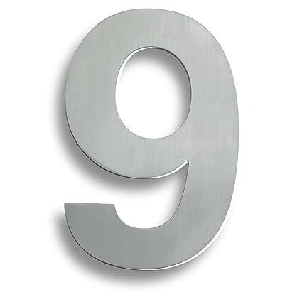 Euroart - Números y letras (acero inoxidable, 9 unidades ...