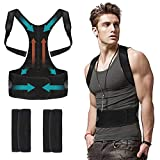Back Posture Corrector for Men Women Under Clothes - Flipcase Adjustable Magnetic Back Straightener, Comfortable Back Brace for Spinal, Neck, Shoulder & Upper Back Pain Relief (M(29.5'- 35.5')