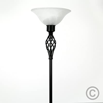 Traditional style satin black barley twist floor lamp with a frosted traditional style satin black barley twist floor lamp with a frosted alabaster shade amazon lighting mozeypictures Choice Image