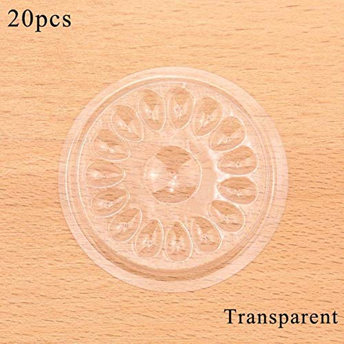 Unknown 16 Hole Eyelash Glue Holder Pallet Eyelash Extension Glue Pads Stand On Eyelash Plastic Glue Holder For Eyelash Extension (Transparent 20pcs)