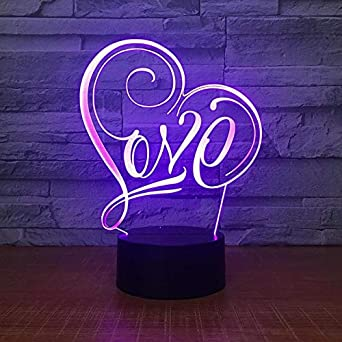 Luz de noche 3D, lámpara de noche, noche, mesa de escritorio ...