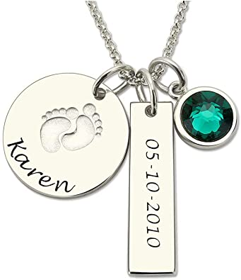 Personalized Birthstone  Custom Add On Charms White Gold Plated
