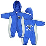 Kentucky Wildcats NCAA Baby Boys Hooded Windbreaker Coverall, Blue & Grey