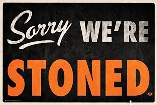 Sorry We're Stoned Poster 36 x 24in