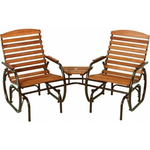 Country Garden Steel Glider Chair