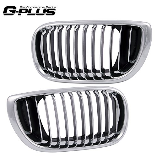 Front Bumper Grille Hood Kidney Sports Grill For 2002-2005 BMW 3 Series E46 Facelift 320i 323i 325i 325xi 328i 330i Silver 2003 2004 ()