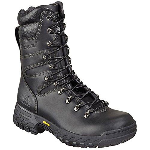 Thorogood Women's 9'' Firestalker Elite Wildland Hiking Boots, Black Leather, 11 W by Thorogood