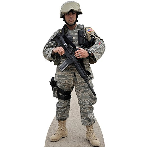 Wet Paint Printing + Design H37015 Soldier Air Force Cardboard Cutout Standup