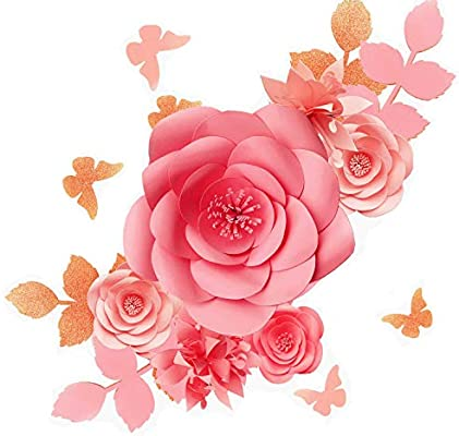 Fonder Mols 3d Paper Flowers Decorations For Wall Blush Pink Set Of 16 Paper Flower Backdrop Nursery Decor Giant Paper Flowers Wedding