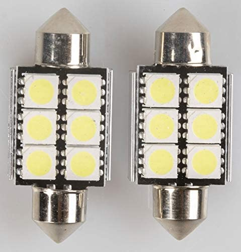 MAGNETI MARELLI 070.00000000009501 C5W Coppia di lampadine Auto LED 6SMD 12V Attacco SV8,5