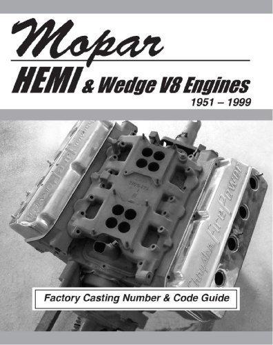 Mopar HEMI and Wedge V8 Factory Casting Number and Code Guide 1951-99 (MSA-1) (426 Hemi Chrysler)