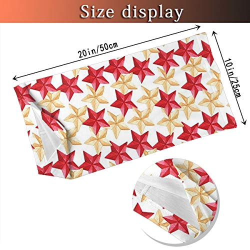 Outdoor Headband House Decor Collection Christmas Tree Decoration Themed Star Pattern Military Style Gold Red Sketch… 4