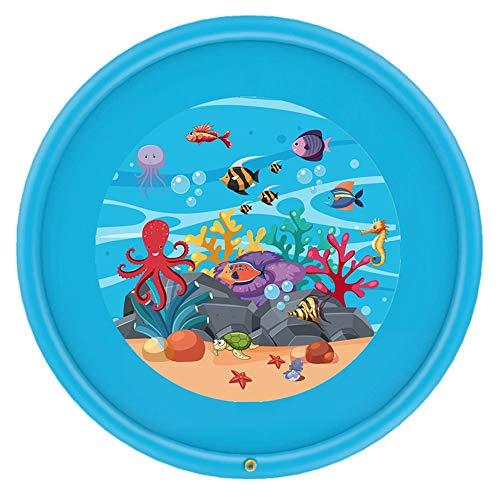 Yuhebaby Sprinkler for Kids 68 Sprinkle and Splash Play Mat Pad,Water Toys Fun for 1 2 3 4 5 Year Old Boy Girl,Kids Outdoor Party Sprinkler Toy