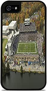 West Pointe Michil Stadium Black 2-in-1 Protective Case with Silicone Insert for Apple iPhone 5 / 5S by Compass Litho