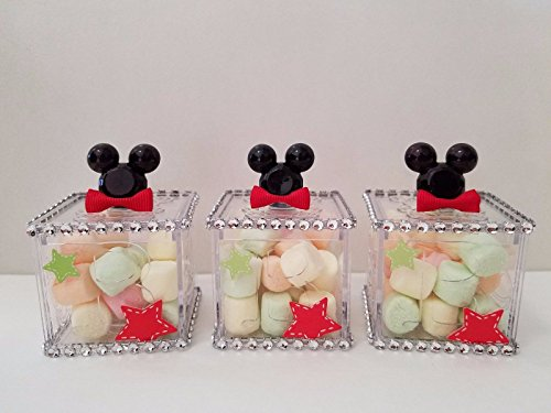 12 Mickey Mouse Fillable Blocks Baby Shower Favors Prizes Game Boy Decorations -