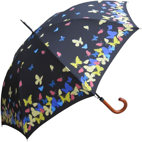 RainStoppers 46-Inch Auto Open Color Changing Umbrella with Hook Handle