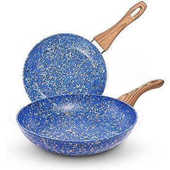 Amazon Com Michelangelo 2 Piece Granite Non Stick Fry Pan