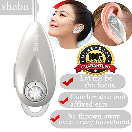 Headset Hands White Free (Wireless Bluetooth Headset - Mini Noise Cancelling Car Bluetooth Headset Invisible with Mic Cell Phone Bluetooth Earpiece Compatible with iPhone Samsung Android, and Other Leading Smartphones(White))