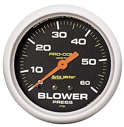 Auto Meter 5403 Pro-Comp Liquid-Filled Mechanical Blower Pressure Gauge (Mechanical Blower Pressure Gauge)