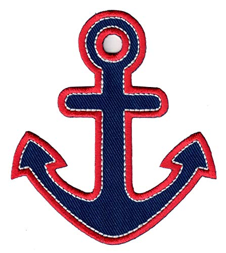 PatchMommy Iron On Patch, Anchor - Appliques for Kids - On Transfers Anchor Iron