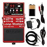 Boss RC-3 RC3 Loop Station Guitar Effects Pedal with Power Supply, Cables, and Extended Warranty