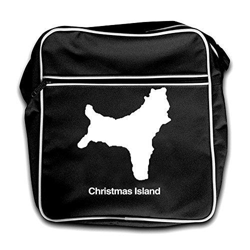 Rojo Isla Negro Silueta Navidad De De Retro Viaje Bolsa 8v8wqrB