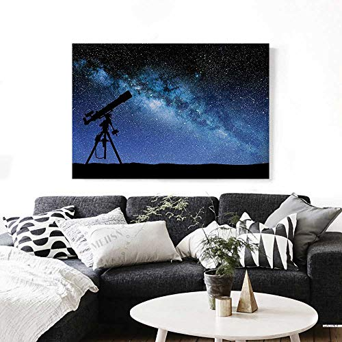 Galaxy Canvas Wall Art Telescope Valley Under Starry Night Sky Milky Way Atmosphere Galaxy Astronomy Print Paintings for Home Wall Office Decor 28