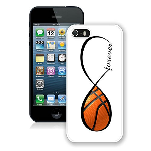 Iphone5 Case,fashion Print Plastic Back Skin Shell Case [Scratch-resistant] [Perfect Fit] [Anti-slip] [Good Grip] Hard Back Cover for Iphone 5 (Forever Love) (Basketball Forever-white) (Basketball Iphone Case 5 Grip)