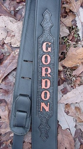 Custom Tooled Leather Guitar Strap with Your Name! by Dangerous Threads (Image #9)