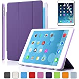 Besdata Ultra Thin Magnetic Smart Cover & Clear Back Case for Apple iPad Air(5th Gen)+Screen Protector+Stylus+Cleaning Cloth, Purple - PT4105