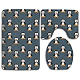 Penguin Animal Super Plush Bathroom Rugs Set Super Absorbent Bath-rugs Large Lid Toilet Cover And Bath Mat