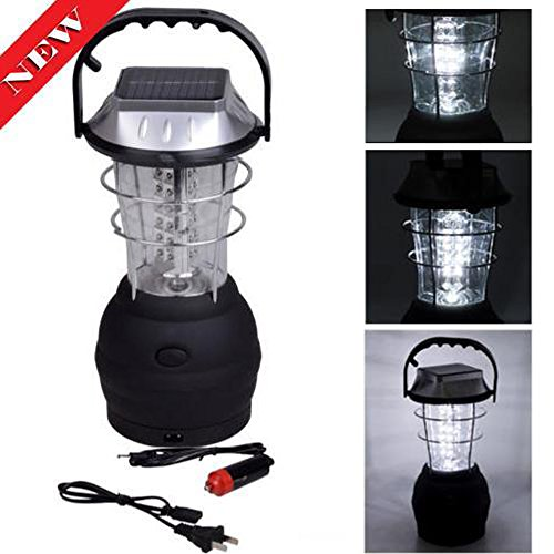 Hindom Outdoor Hand Crank Solar Powered 36 LED Lantern,Ul...