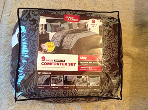 Amazon.com: Better Homes And Gardens 9 Piece Montclair Comforter Set KING: Home  U0026 Kitchen