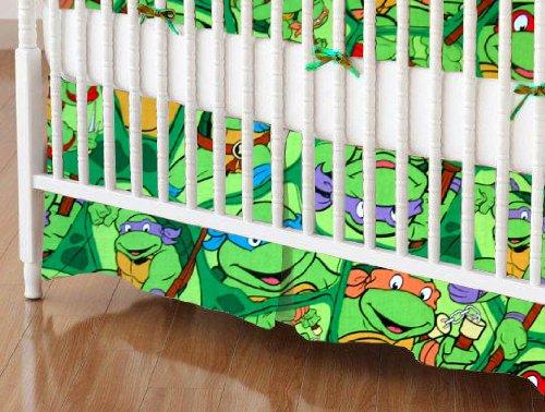 SheetWorld - Crib Skirt (28 x 52) - Ninja Turtles - Made In USA by SHEETWORLD.COM