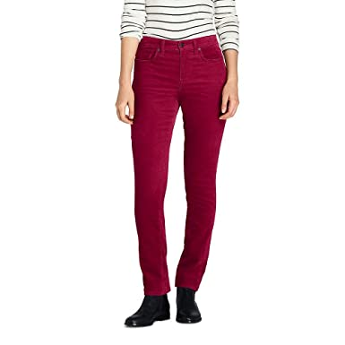 49ddb6f4bee7 Lands  End Women s Petite Mid Rise Straight Leg Corduroy Pants at ...