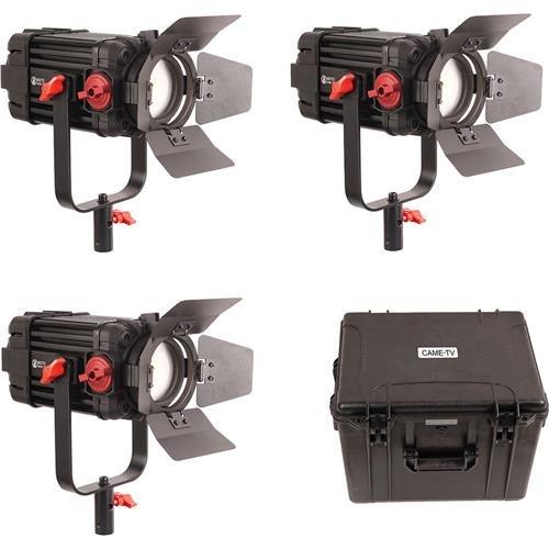 CAME-TV Boltzen 100W Fresnel Focusable LED Daylight 3-Light Kit by CAME-TV