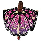 Women Christmas Butterfly Wings-Vovomay Shawl Scarves Poncho Costume Accessory (Hot Pink)