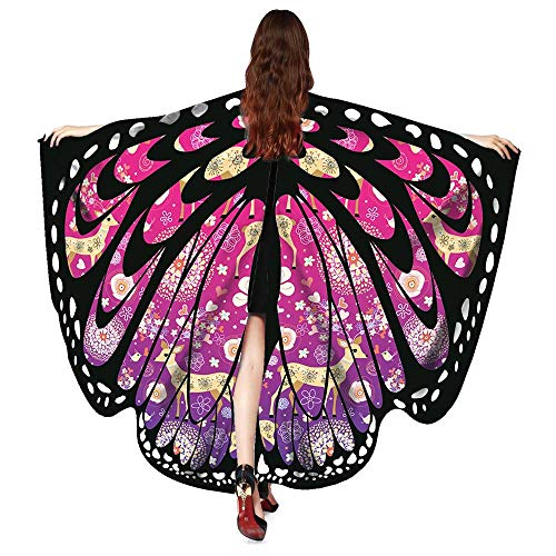 VESNIBA Party Butterfly Wings Shawl Nymph Pixie Poncho Costume Accessory