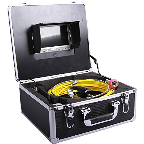 Vanxse Pipe Inspection Camera Waterproof IP68 20meters Sewer Drain Industrial Endoscope Video Inspection System 7 Inch LCD Monitor 1000TVL Sony CCD Video Snake Camera D70120